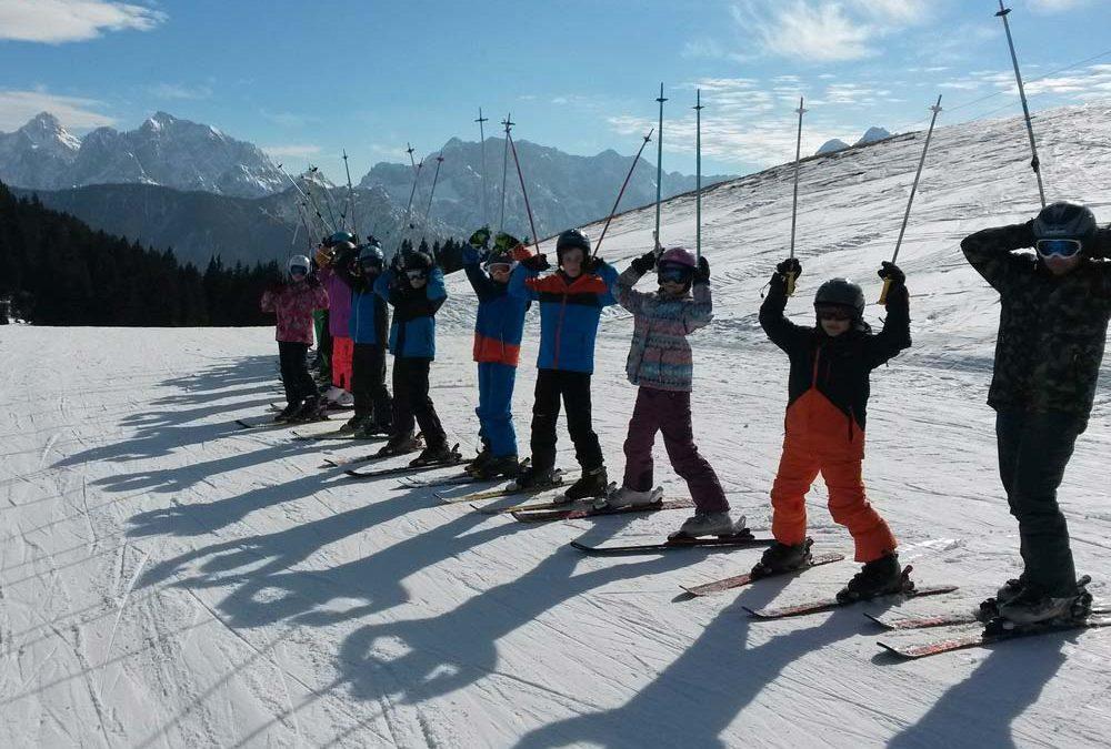 Met een groep op wintersport