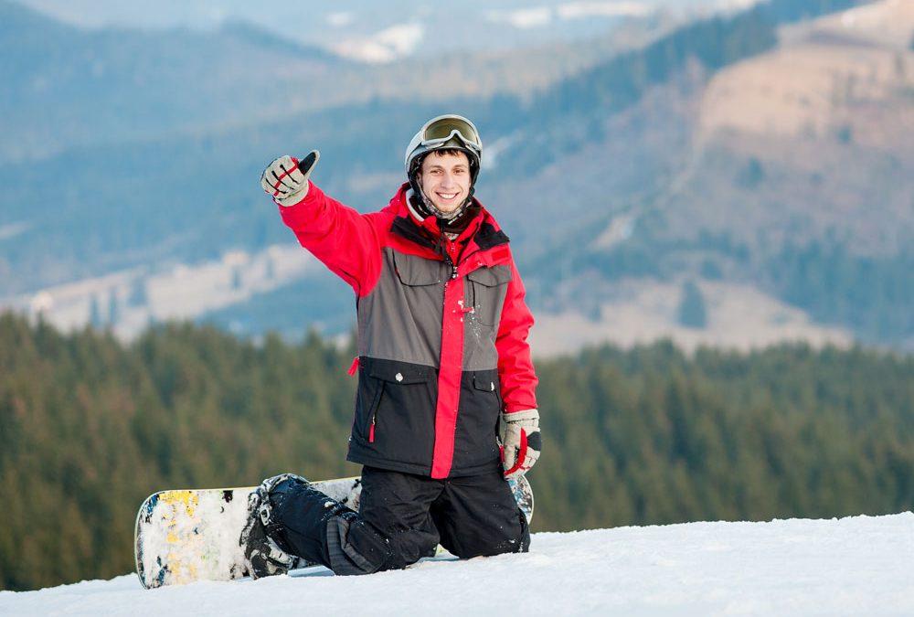 Voor de eerste keer op wintersport